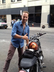 Nick and his motorcycle