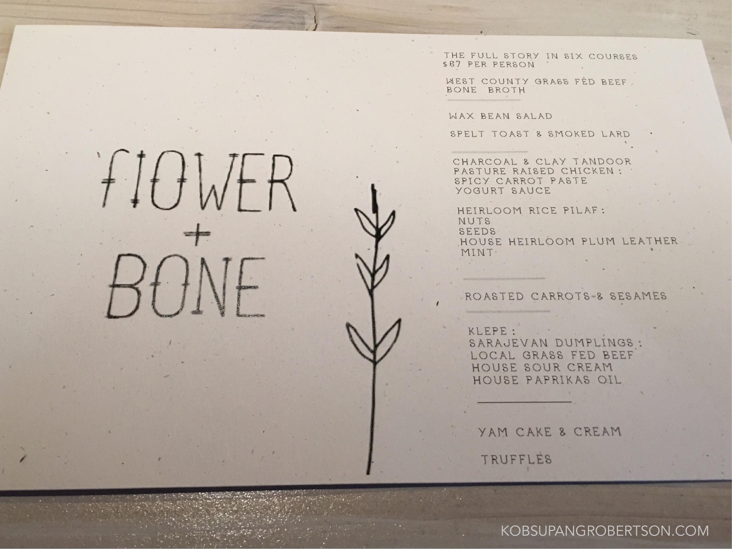 The Dinner Series Debut Of Flower Bone Kobsupang Robertson